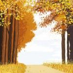 Autumn forest — Stock Vector #75905313