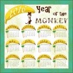 Monkey calendar — Stock Vector #79275790