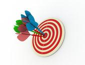 Darts concept — Stock Photo