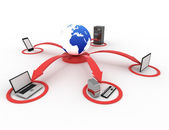 Computer network and internet communication concept — Stock Photo