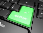 Keyboard with backup button — Stock Photo