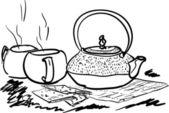 A very tasty tea — Stock Vector