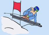Ski,winter — Stock Vector