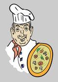 Good pizza — Stock Vector