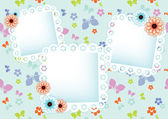 Pastel background with  lace frames — Vector de stock