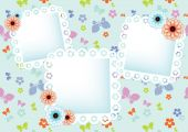 Pastel background with  lace frames — Vetorial Stock