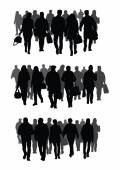 Silhouettes of people — Stock Vector