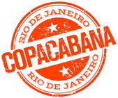 Copacabana stamp — Stock Vector