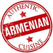 Armenian cuisine stamp — Stock Vector