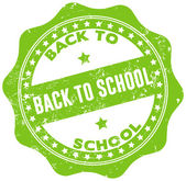 Back to school seal — Stock Vector