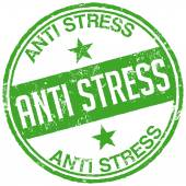 Green anti stress stamp — Stock Vector