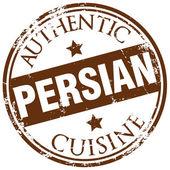 Persian cuisine stamp — Stock Vector