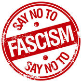 Say no to fascism — Stock Vector