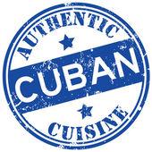 Cuban cuisine stamp — Stock Vector