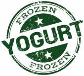 Frozen yogurt stamp — Stock Vector