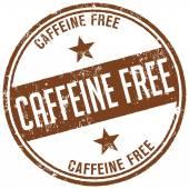 Caffeine free stamp — Stock Vector