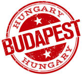Budapest stamp — Stock Vector