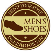 Men shoes label — Vector de stock