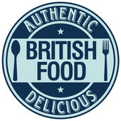 British food label — Stock Vector