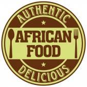African food label — Stock Vector