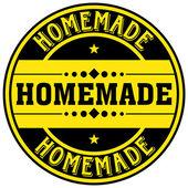 Homemade label — Stock Vector