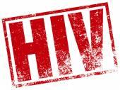 Hiv virus stamp — Stock Vector