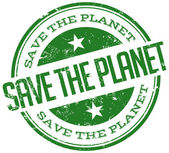 Save the planet stamp — Stock Vector