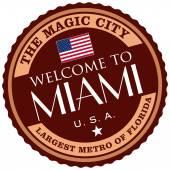 Майами этикетка — Cтоковый вектор