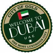 Dubai label — Stock Vector