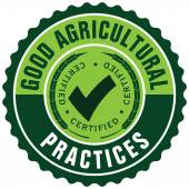 Agricultural certification seal — Stock Vector