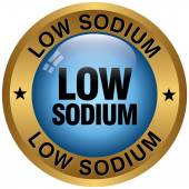 Low sodium icon — Stockvektor