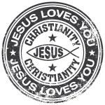 Jesus rubber stamp — Stock Vector #66933819