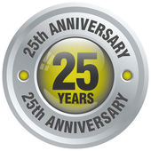25th anniversary icon — Stock Vector