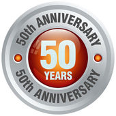 50th anniversary icon — Stock Vector