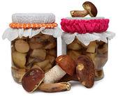Marinaded mushrooms — Stock Photo