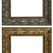 Set of 2 gold frames. Isolated on white background — Stock Photo #65321939