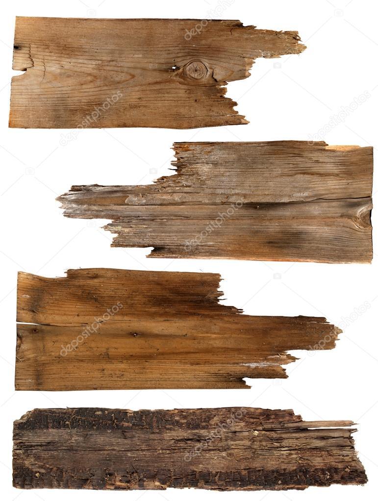 Cuatro tableros madera antiguos aislados en un fondo - Precios de tableros de madera ...