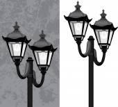 уличный фонарь — Cтоковый вектор