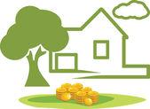 在房地产的投资 — 图库矢量图片