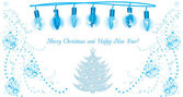Luminous Christmas garland. Background for greeting card — Stock vektor