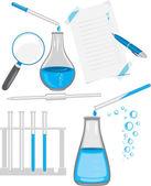 Chemical laboratory glassware — Stock Vector