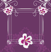 Stylized pelargonium flowers. Greeting card — Stock Vector