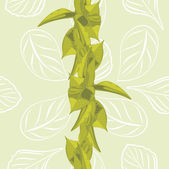Seamless leafy background for wrap design — Stock Vector
