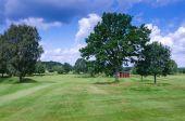 Typické švédské golfové hřiště — Stock fotografie