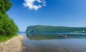Summer calm on Norwegian fjord — Stock Photo