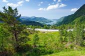 Beautiful view from Norwegian view point — Stock Photo