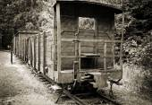 Train wagon in concentration camp Stutthof — Stock Photo