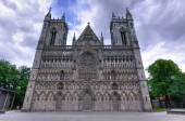 Historic cathedral in Trondheim — Zdjęcie stockowe