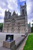 The Nidaros cathedral in Trondheim — Stock Photo