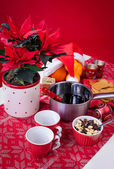 Vertical composition with Xmas glogg — Stock Photo